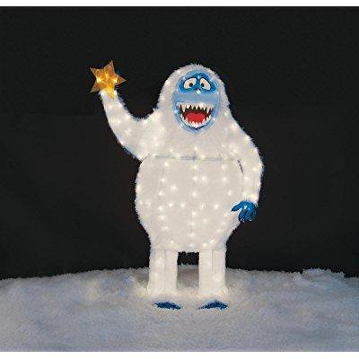 Christmas 54 tall tinsel bumble the abominable snowman for Abominable snowman outdoor christmas decoration