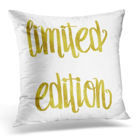 ARHOME Funny Limited Edition Best Friend Baby Quote Gold Faux Foil Metallic Friendship Quotes White Glitter Pillow Case Pillow Cover 18x18