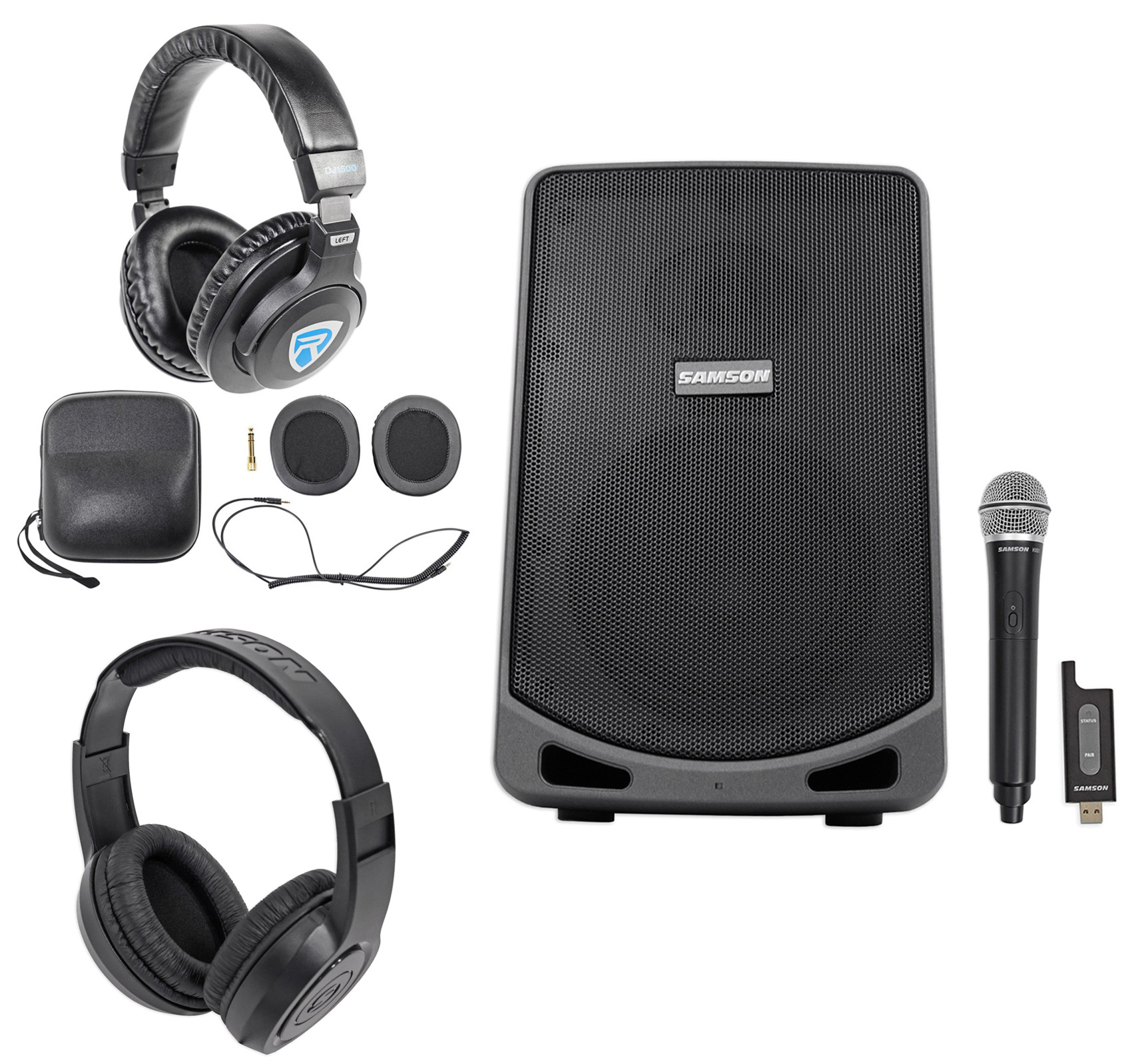 "Samson Expedition XP106W 6"" Rechargeable Powered PA DJ Sp..."