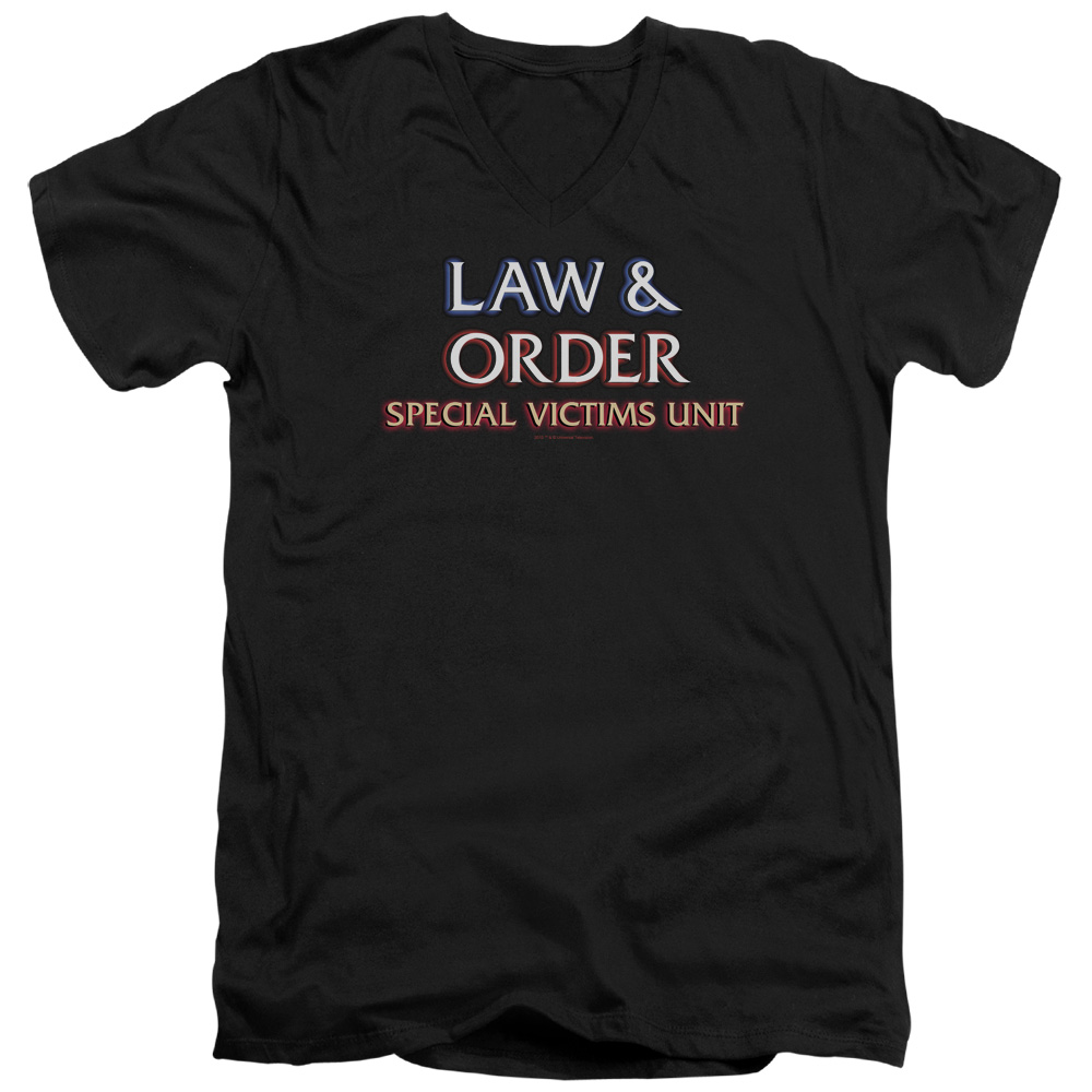 Law & Order SVU Logo Mens V-Neck Shirt