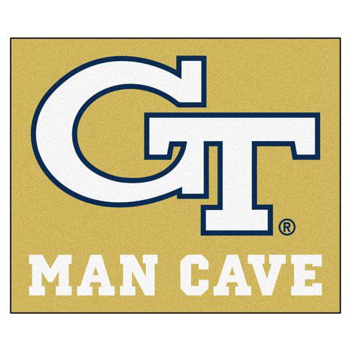 Georgia Tech Man Cave Tailgater Rug 5'x6'