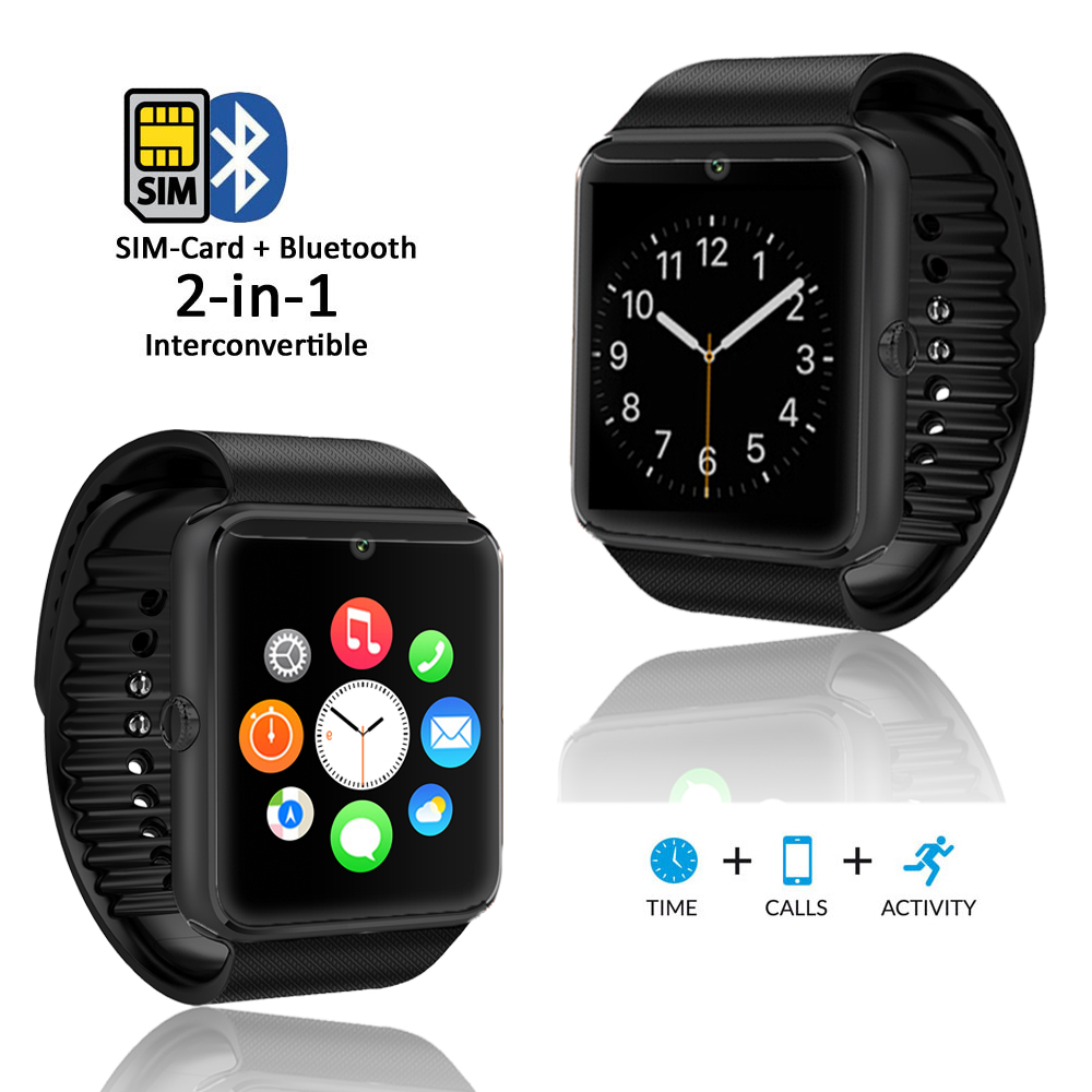 Indigi® Stylish GSM Wireless Watch Cell Phone w/ Bluetooth Camera Unlocked AT&T T-Mobile Pedometer - image 5 of 5