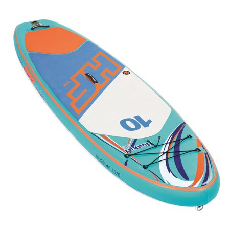 Bestway Hydro Force Huaka'i Tech 10 Foot Inflatable SUP Paddle Board with Pump