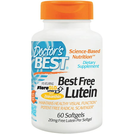Doctor's Best Floraglo 20mg Free Lutein, 60 CT (Best Eye Supplements For Glaucoma)