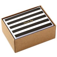 Hallmark Thank You Cards, Striped (40 Cards with Envelopes)