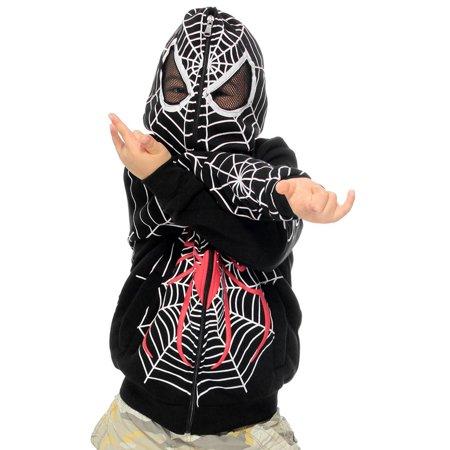 Simplicity - Kids Spiderman Zip Up Hoodie Outerwear ...