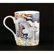 Euland China B0-007SO Set Of Two 12-Ounce Mugs - Snowy Owl