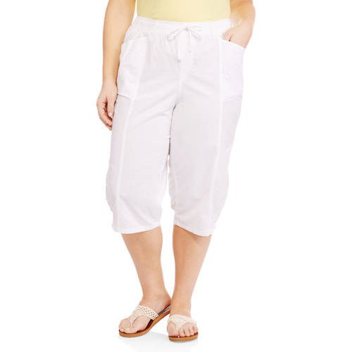 Erika Women's Plus Pull On Capri Pant - Walmart.com
