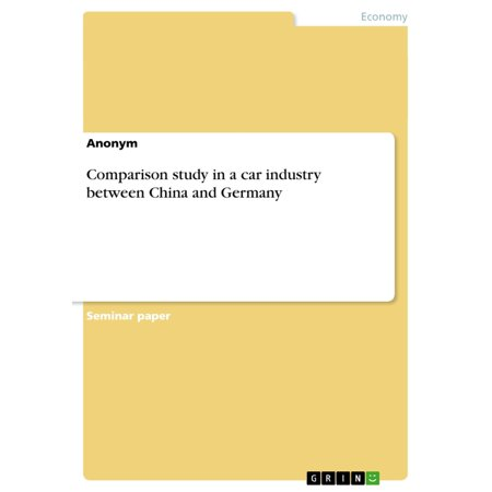 Comparison study in a car industry between China and Germany -