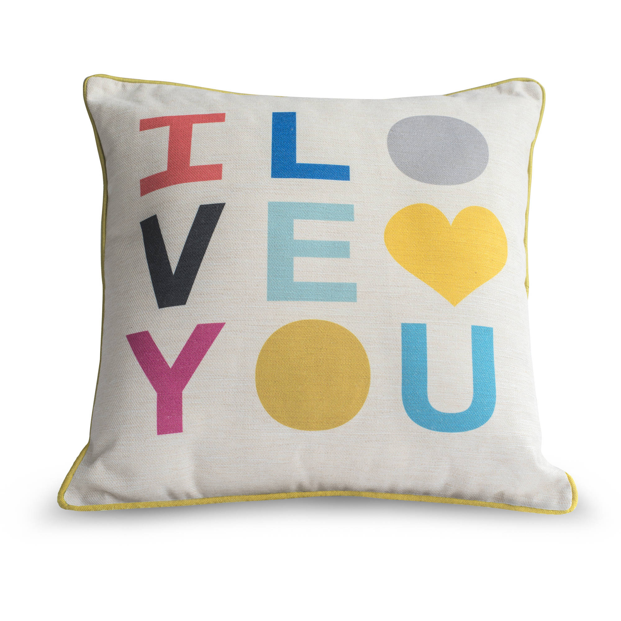 9 by Novogratz Love Letters Decorative Pillow