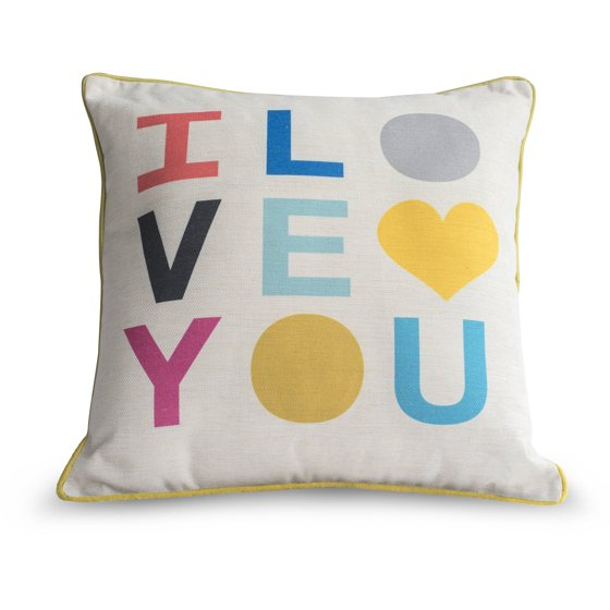 Throw Pillows With Letters : 9 by Novogratz Love Letters Decorative Pillow - Walmart.com
