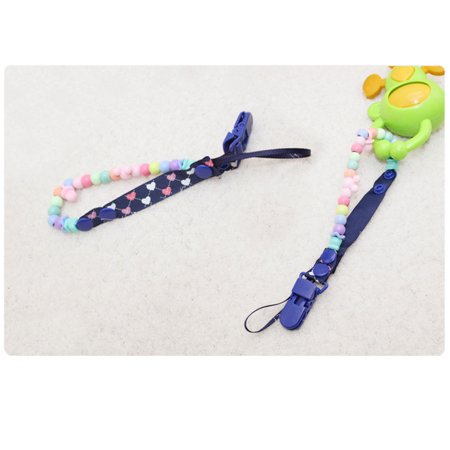 Baby Pacifier Anti-drop Chain Clips Beaded Pacifier Chain Clip Pacifier Chain Anti-drop Clip thumbnail