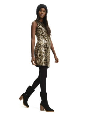 Scoop Sleeveless Sequin Dress Women's