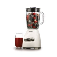 Brentwood 12-Speed Blender with Glass Jar, White