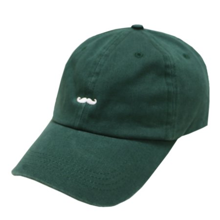 City Hunter C104 Mustache Embroidery Cotton Baseball Cap 14 Colors (Hunter Green) [Apparel] for $<!---->