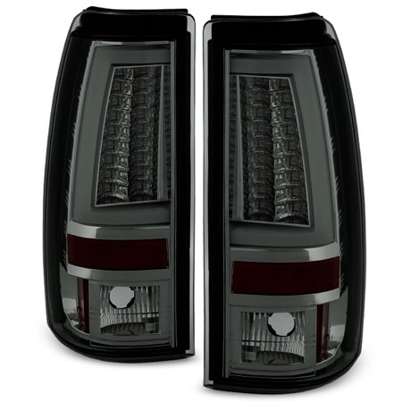 Fits 2003-2006 Chevy Silverado GMC Sierra 1500 2500HD 3500 Smoke LED Tail Lights
