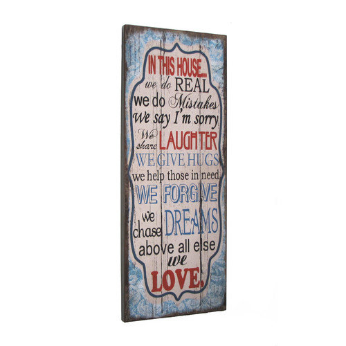 Wilco Home ''In This House Above All Else We Love'' Textual Art