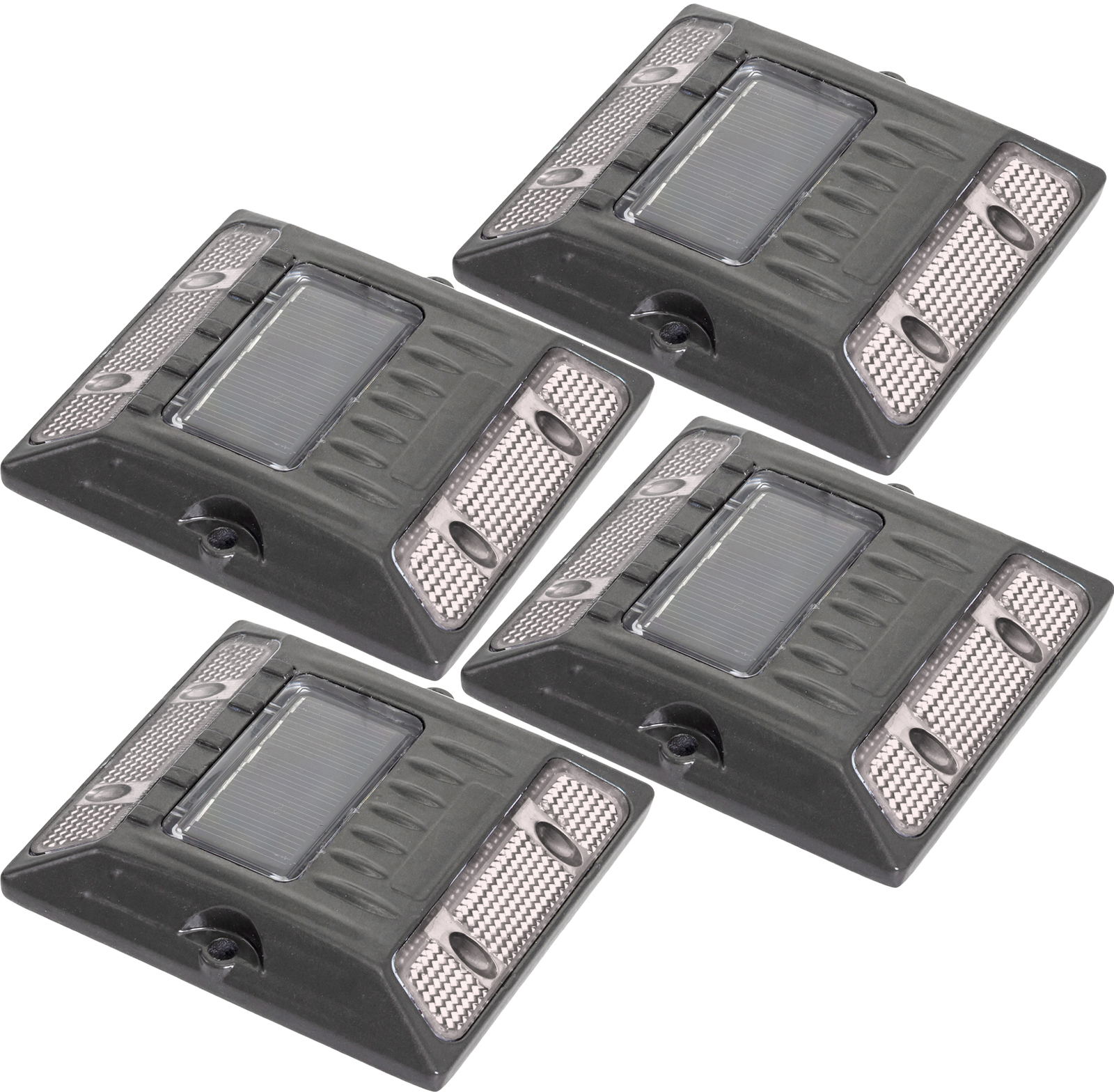 NEW 4 Pack Commercial Aluminum Alloy Solar Road Stud Path Deck Dock LED Light