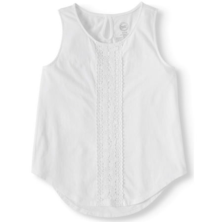 Wonder Nation Crochet Front Hi-Lo Tank Top (Little Girls, Big Girls & Big Girls Plus) ()