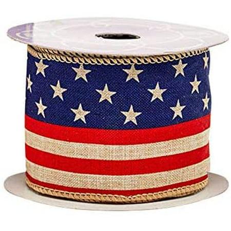 Rustic American Flag Patriotic Ribbon - 2 1/2