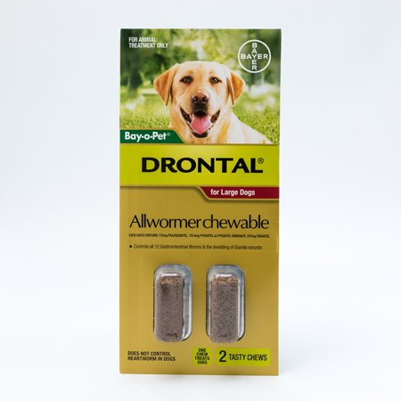 (Drontal Allwormer Chewable for Large Dogs 22-77lbs (10-35kg))