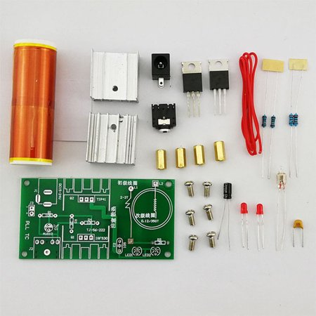Tesla Coil Set Mini Music Plasma Horn Speaker DIY Electronic Component Parts (Diy Maleficent Horns)