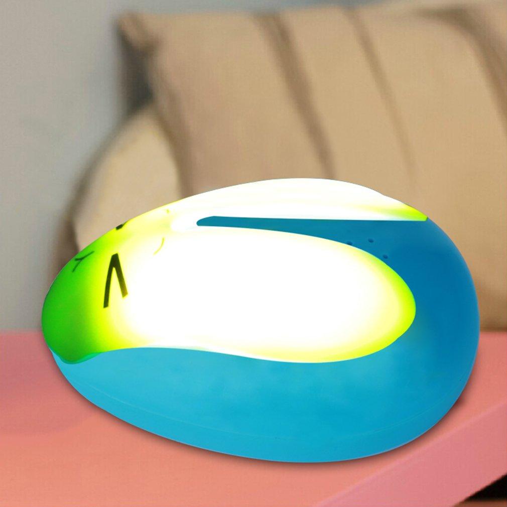 OUTAD Cute Rabbit Shape 6 LED Night Light Room Sleep Body Induction Auto Lamp