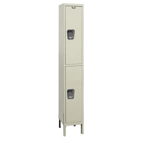 Hallowell Maintenance-Free 2 Tier 1 Wide Quiet Box Locker