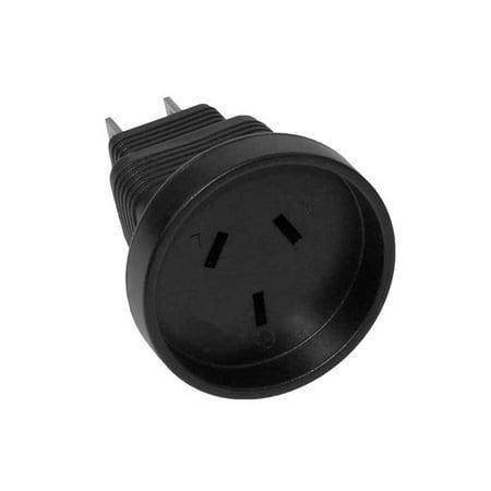3 Prong Power Plug Adapter, Australia AS3112 receptacle to USA NEMA 5-15P