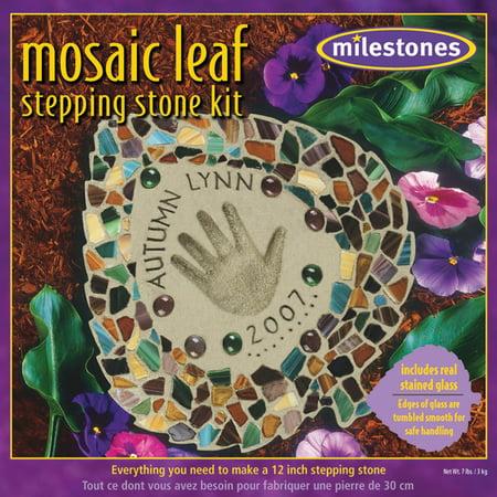 Milestones Mosaic Leaf Stepping-Stone -