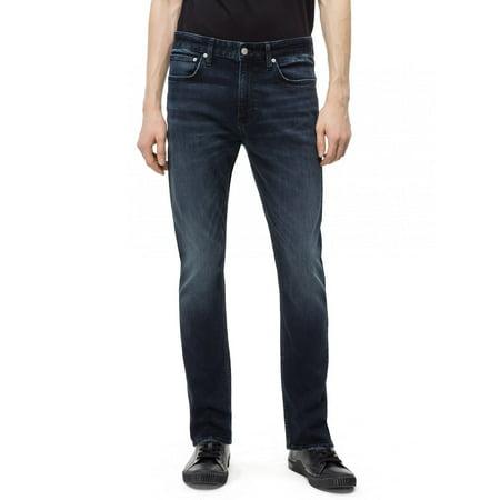 Calvin Klein Men's Skinny Boston Blue Jeans, Boston Blue/Black, 34X30 Calvin Klien Jeans