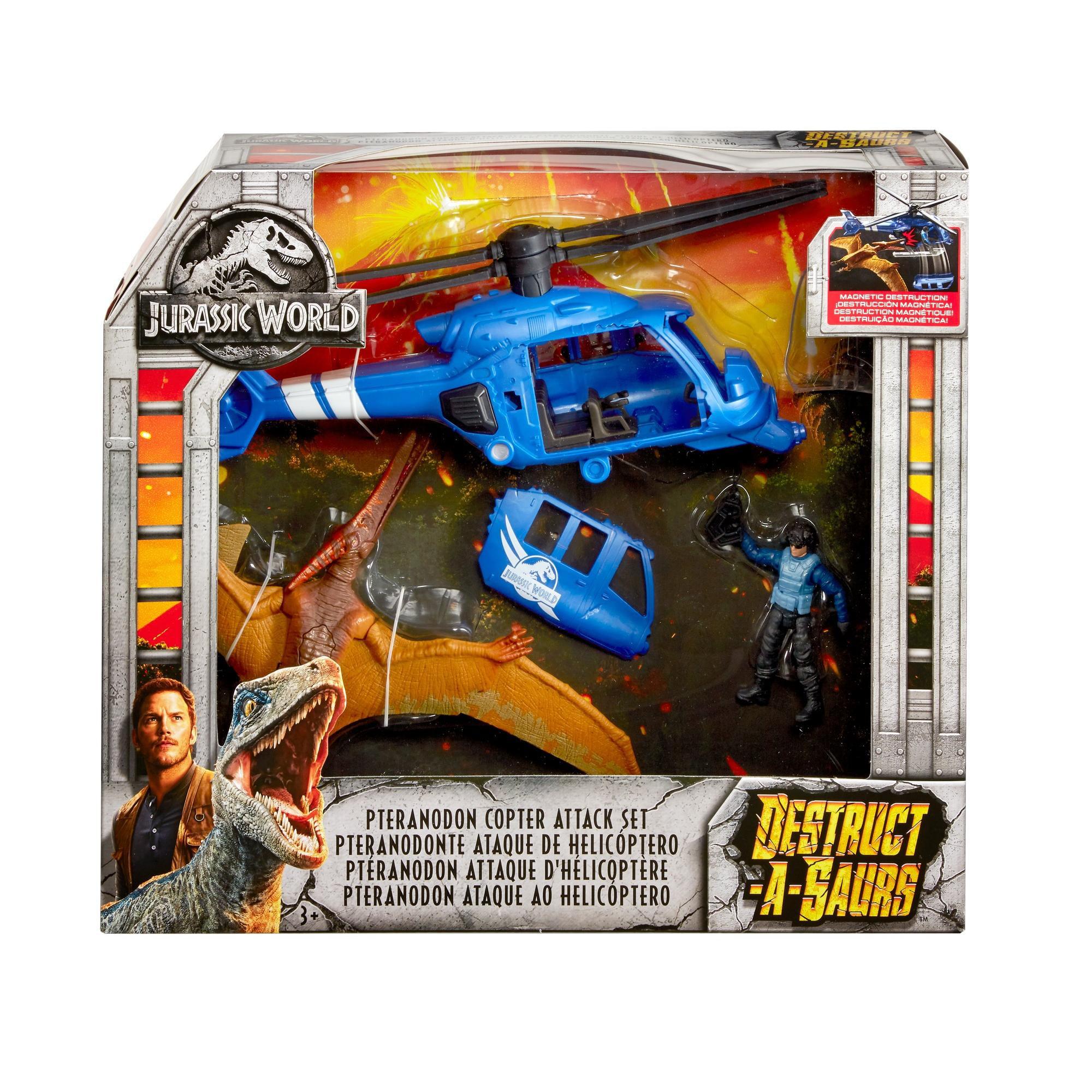 Jurassic World Destruct-A-Saurs Velociraptor /& Pteranodon SET Jurassic Park NEW