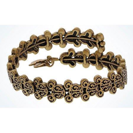 Disney Parks Mickey Mouse Gold Filigree Wrap Bracelet Alex   Ani New With Tags