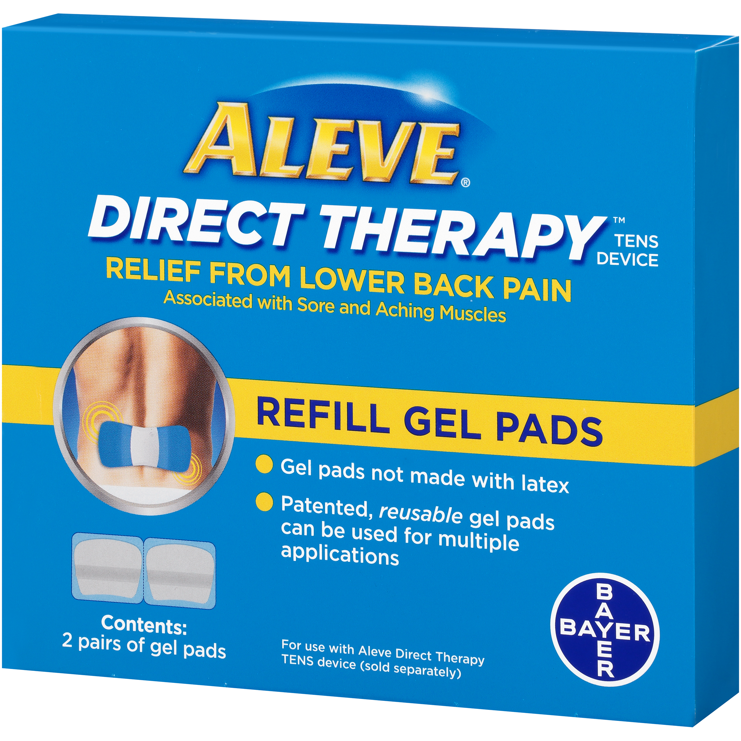 Aleve Direct Therapy Relief From Lower Back Pain Refill Gel Pads 2
