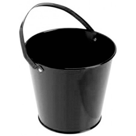 Metal Bucket, Black - Colored Metal Buckets