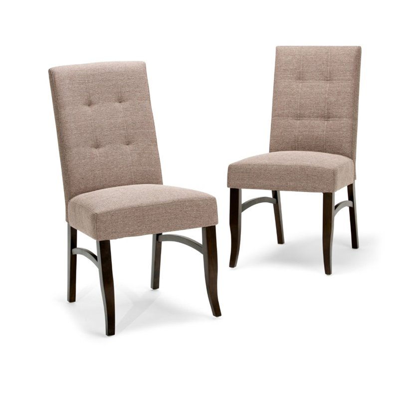 Simpli Home Ezra Deluxe Parsons Chair (Set of 2)
