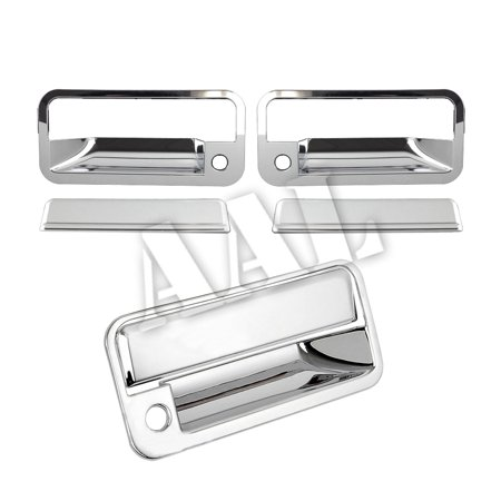 AAL Premium Chrome Cover Combo For GMC 1992 1993 1994 1995 1996 1997 1998 1999 Yukon 2 Doors Handles With Passenger Side Keyhole+Tailgate With keyhole ()