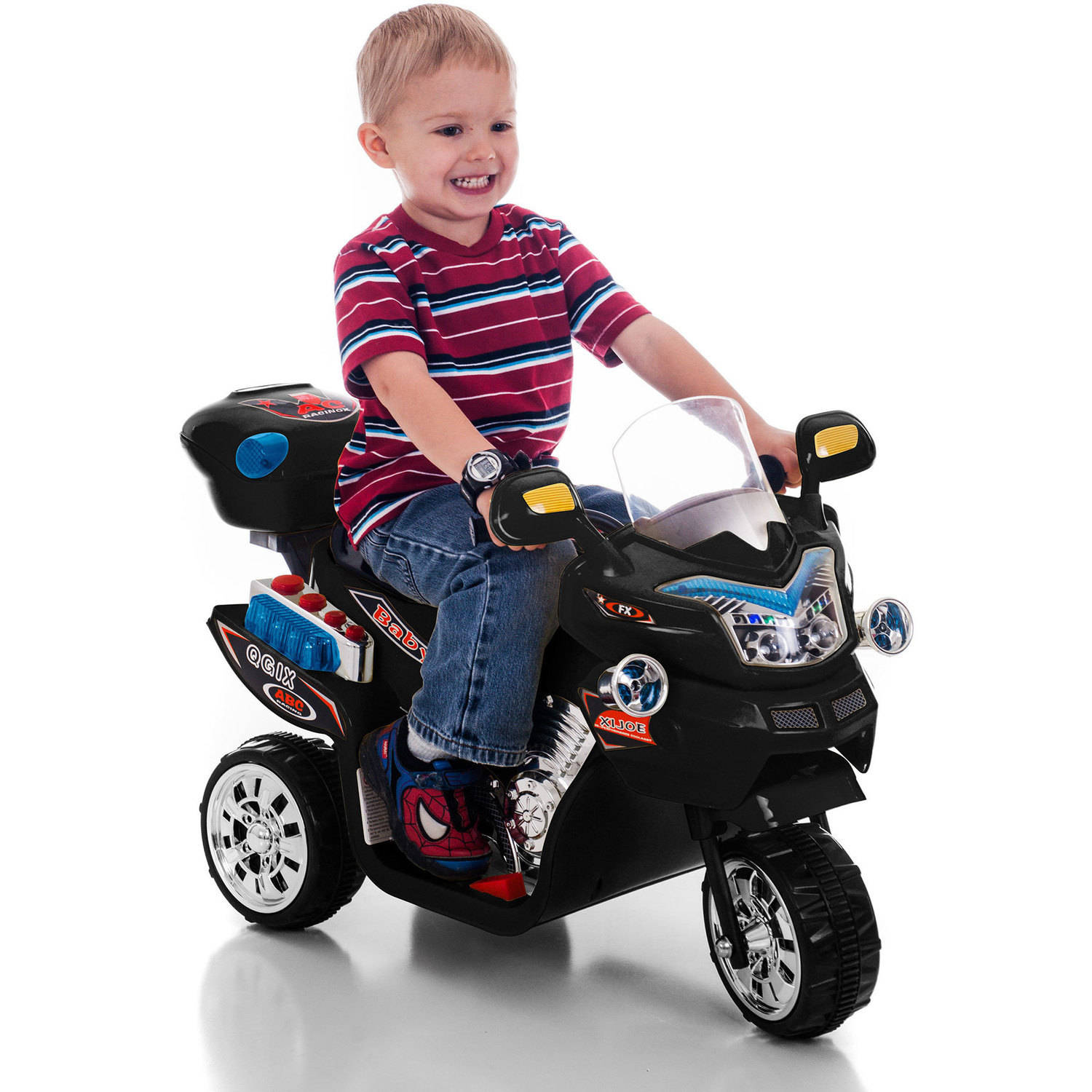 Uncategorized Kids Motorcycle 3 wheel motorcycle ride on toy for kids by rockin rollers battery powered toys boys and girls 2 5 year old