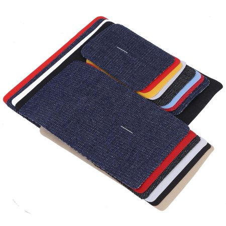 EECOO Jean Mending Patches,18Pcs Assorted Iron on Jean Mending Patches Repair Kit for Cloth Jeans Hats Iron on patches