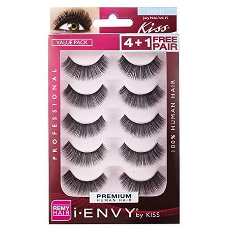 KISS I Envy Eye Lashes Value Pack, Juicy Volume, 5 Ct ()