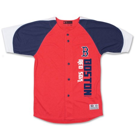 Boston Red Sox Stitches Youth Vertical Jersey - Red/Navy