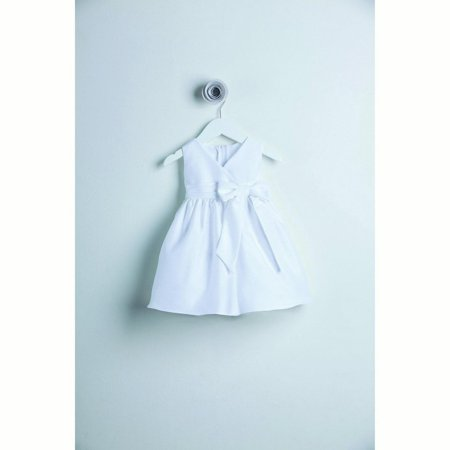 Sweet Kids White V-neck Polysilk Special Occasion Baby Girl Dress S-XL Childrens Occasion Dresses
