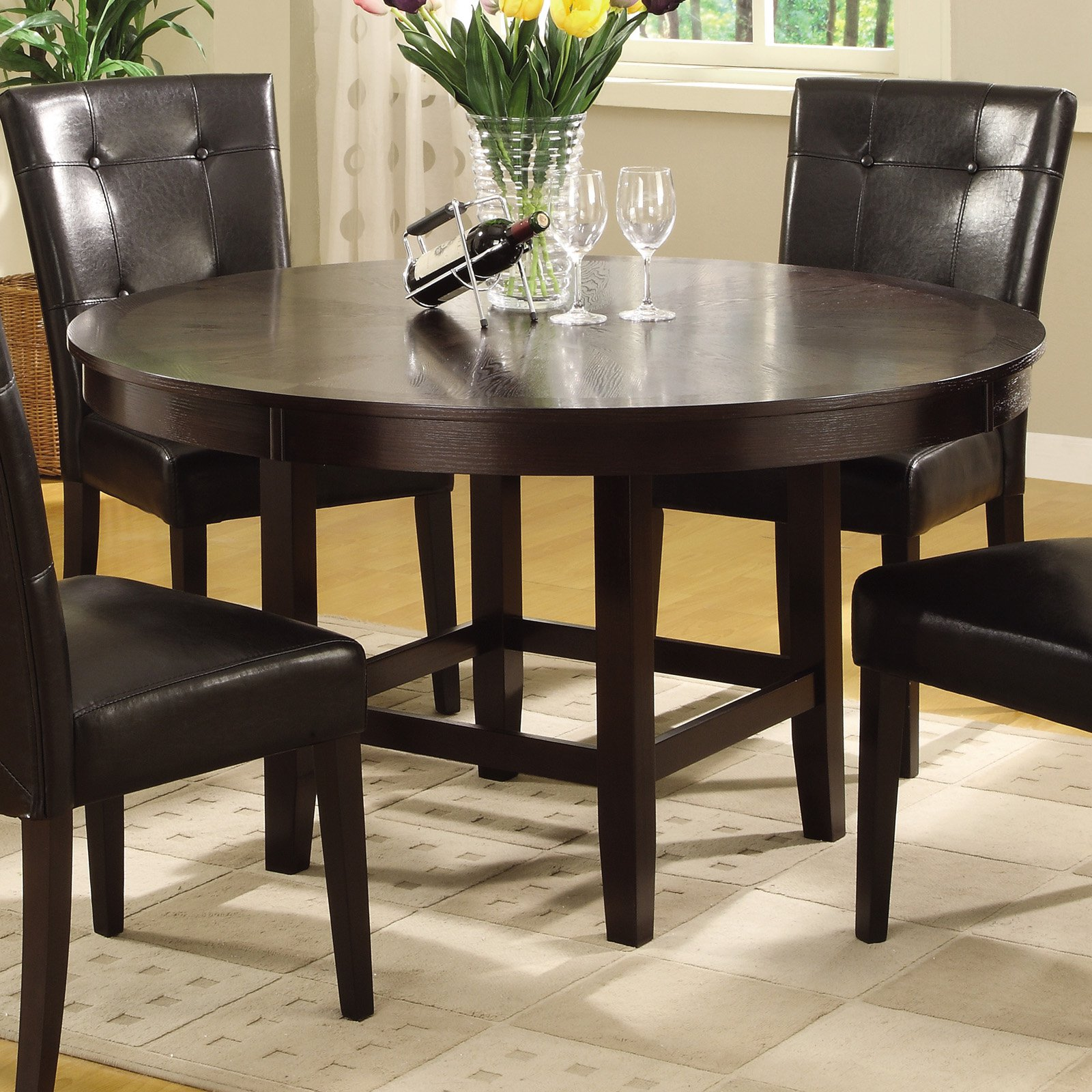 Bossa 48 in. Round Dining Table Dark Chocolate by Modus Furniture International