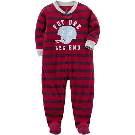 8d5b75b9a Carters - Carters Baby Boys Printed 1 Piece Fleece Footy Pajama (Future  Legend, 5T) - Walmart.com