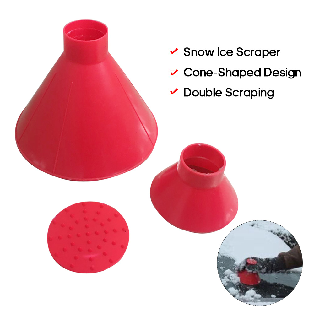 Car Windshield Ice Scraper Tool Cone Shaped Outdoor Round Funnel Remove Snow Kit