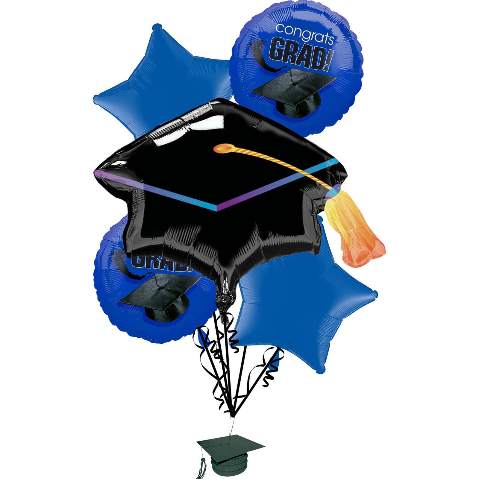 Anagram Congrats Grad School Colors Graduation 6pc Balloon Pack