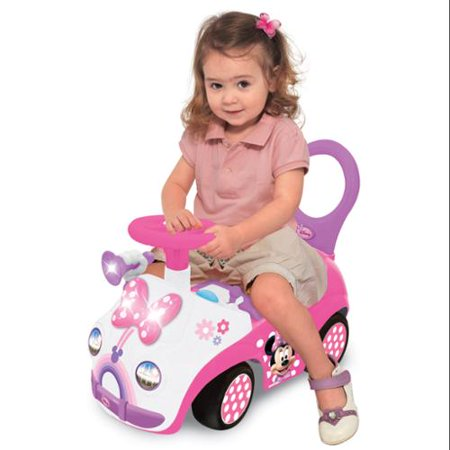Kiddieland Disney Minnie Mouse Toddler Activity Ride-On Push Car | 048751 by