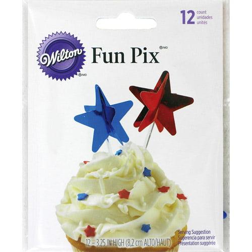 Wilton 3-D Decorating Fun Pix, Star 12 ct. 2113-9208
