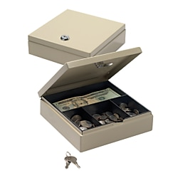 Drawer Safe, 1 7/8in.H x 6 5/8in.W x 7in.D, Sand, 227107004