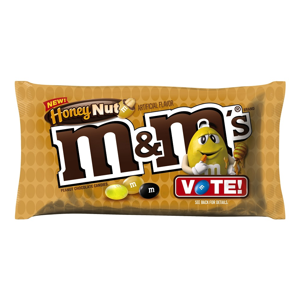M&M'S Honey Nut Peanut Chocolate Candy Bag, 10.2 oz
